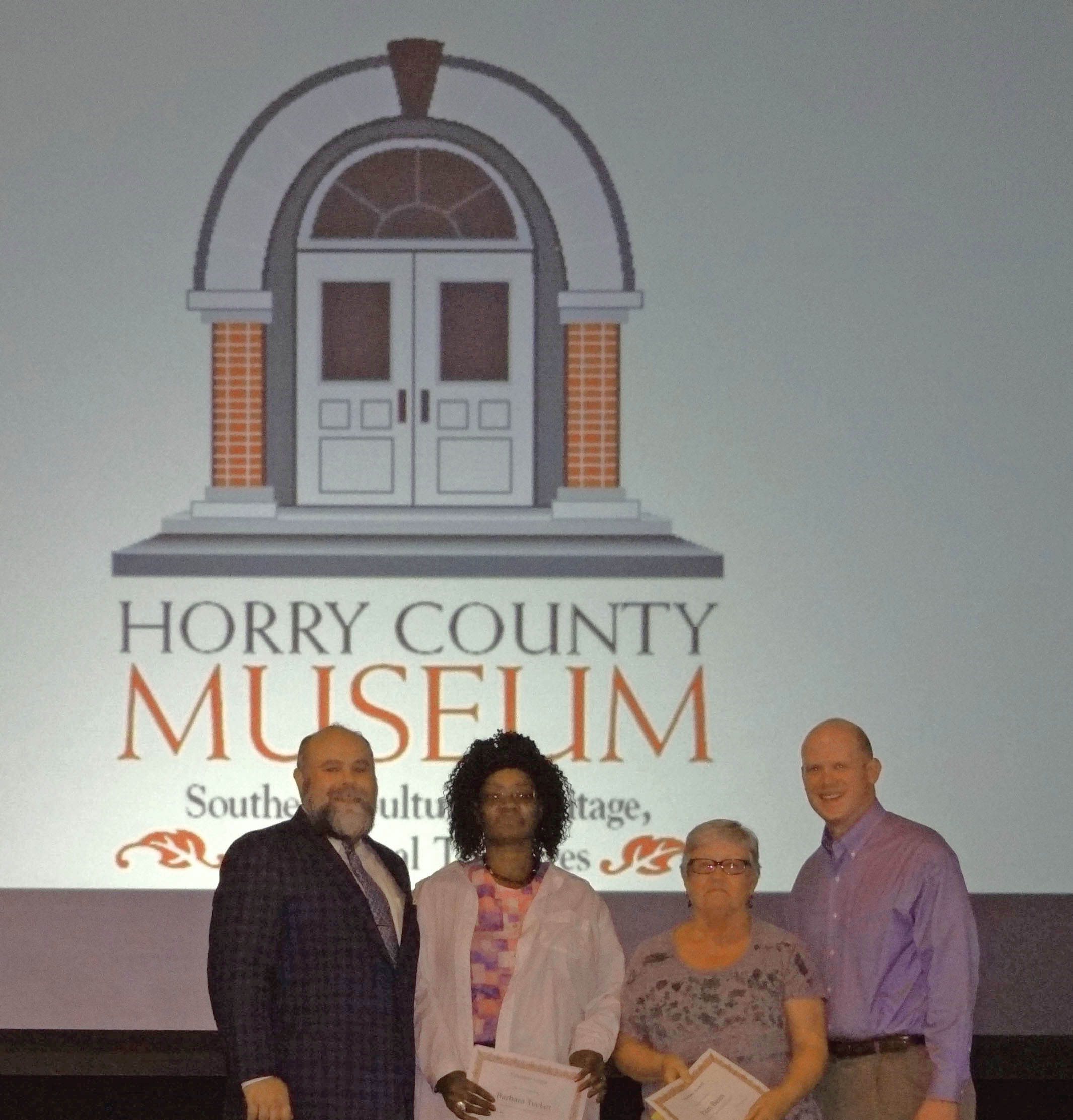 Museum Greeters: Barbara Tucker, Jim & Pam Bean