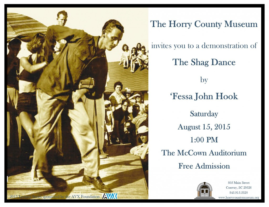 Fessa John Hook To Give Presentation On The Shag Dance At