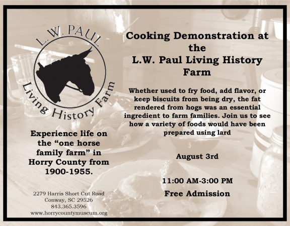August Cooking Demonstration