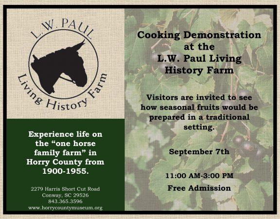 September Cooking Demonstration
