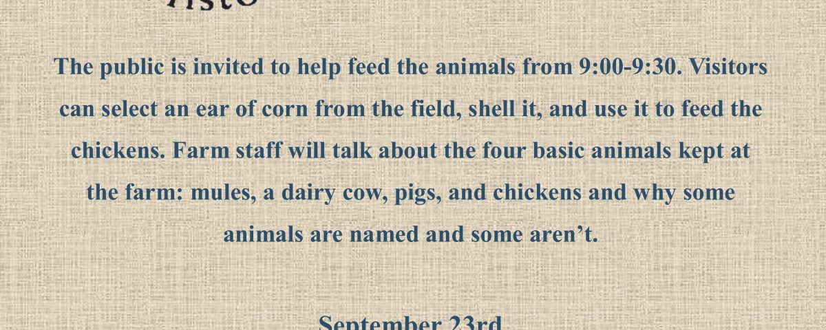 September Farm Animal Day