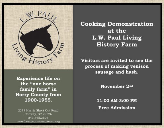 November Cooking Demonstration