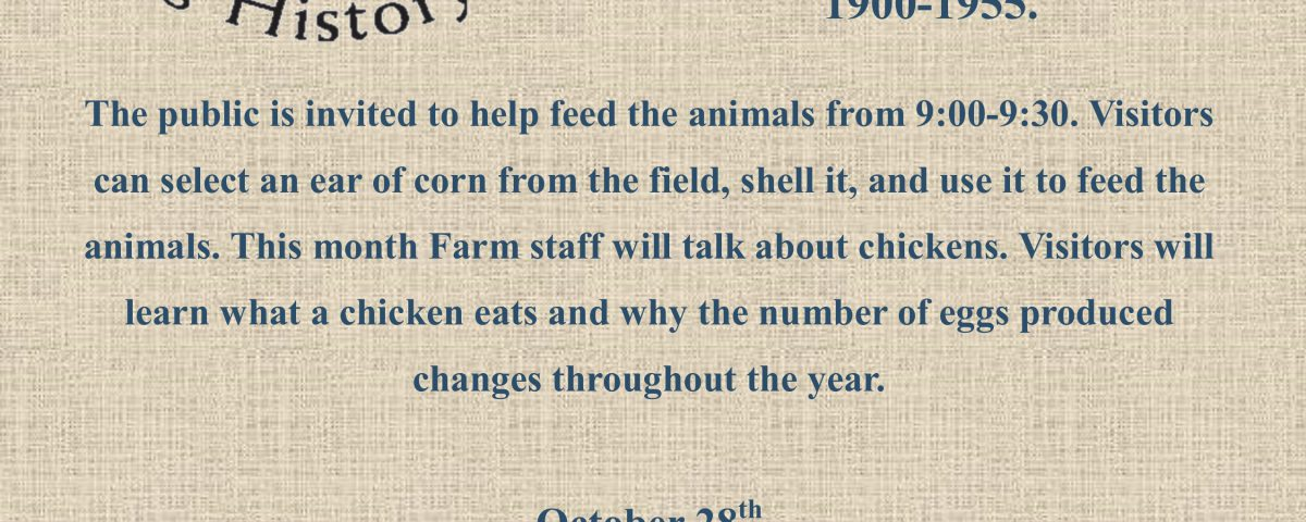 October Farm Animal Day