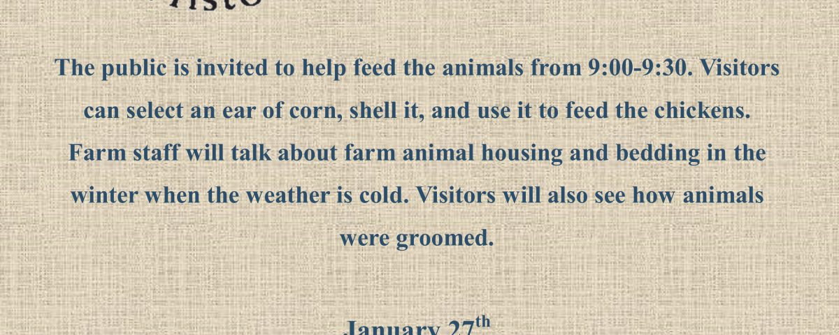 January Farm Animal Day