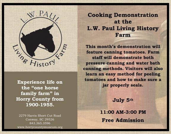 July Cooking Demo
